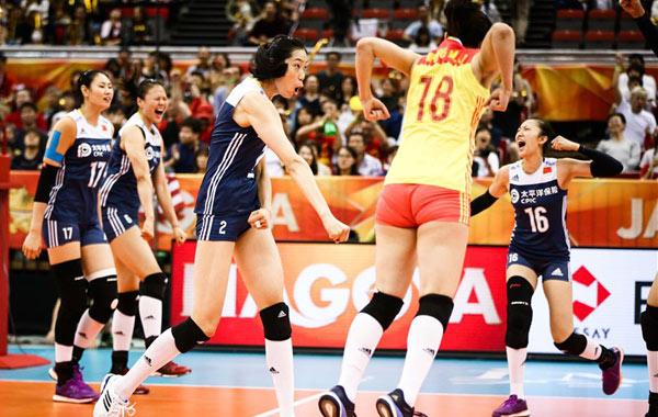 女排世锦赛中国3-2逆转美国