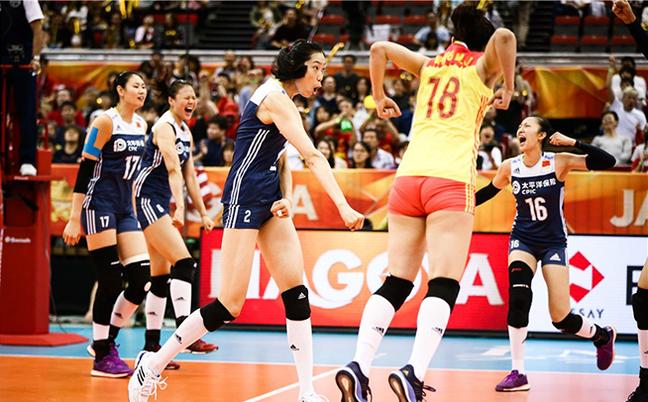 世锦赛-中国女排3-2逆转再胜美国