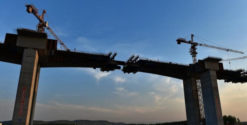 运宝黄河大桥主体工程全部施工完成