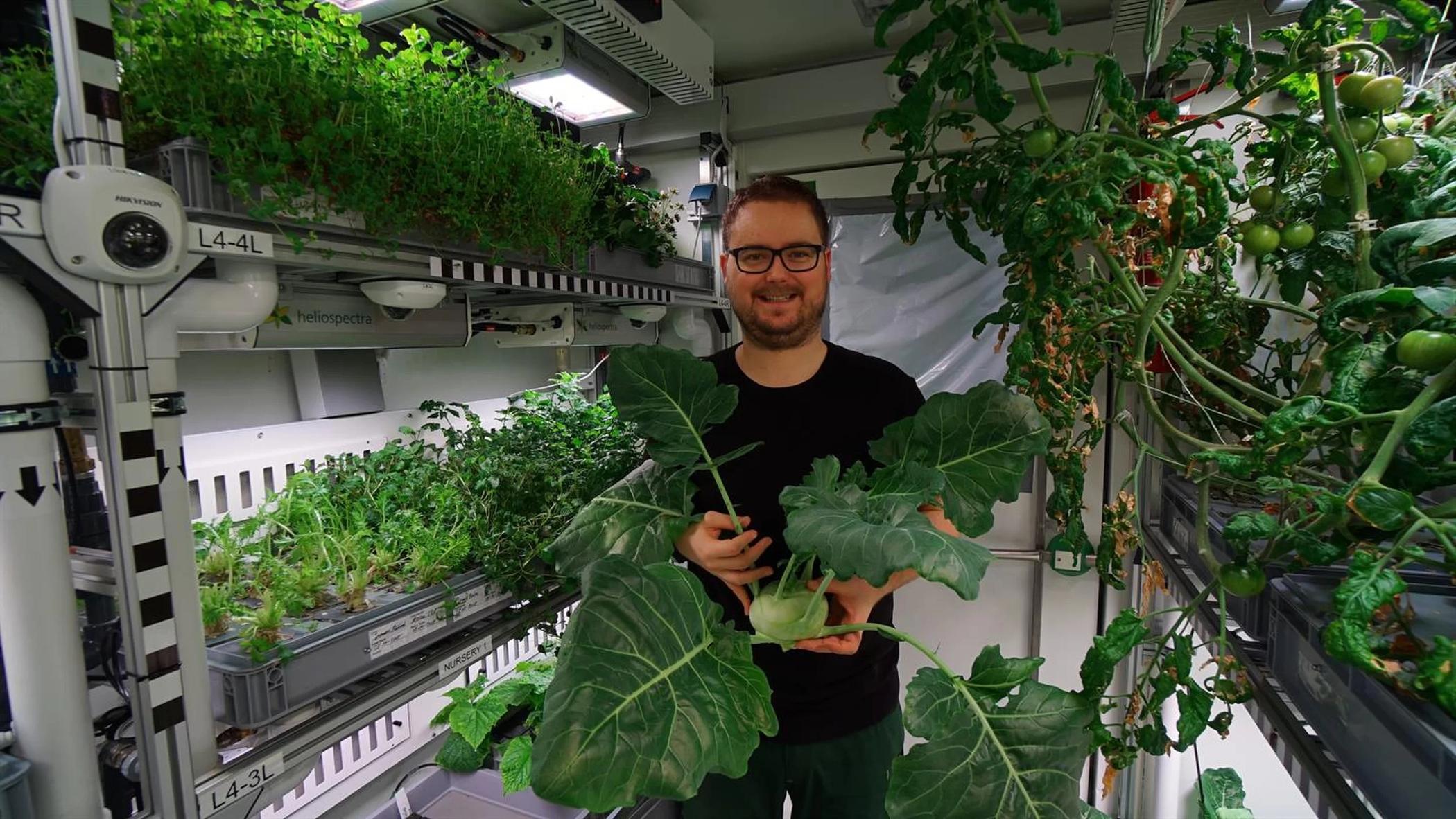 未来火星人类不用愁. 温室可种植新鲜农作物