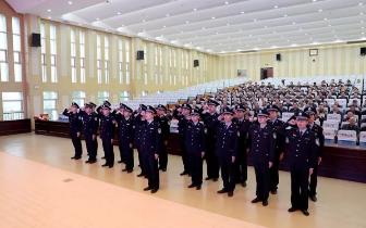 市公安局举行2018年民警退休暨新警入警仪式