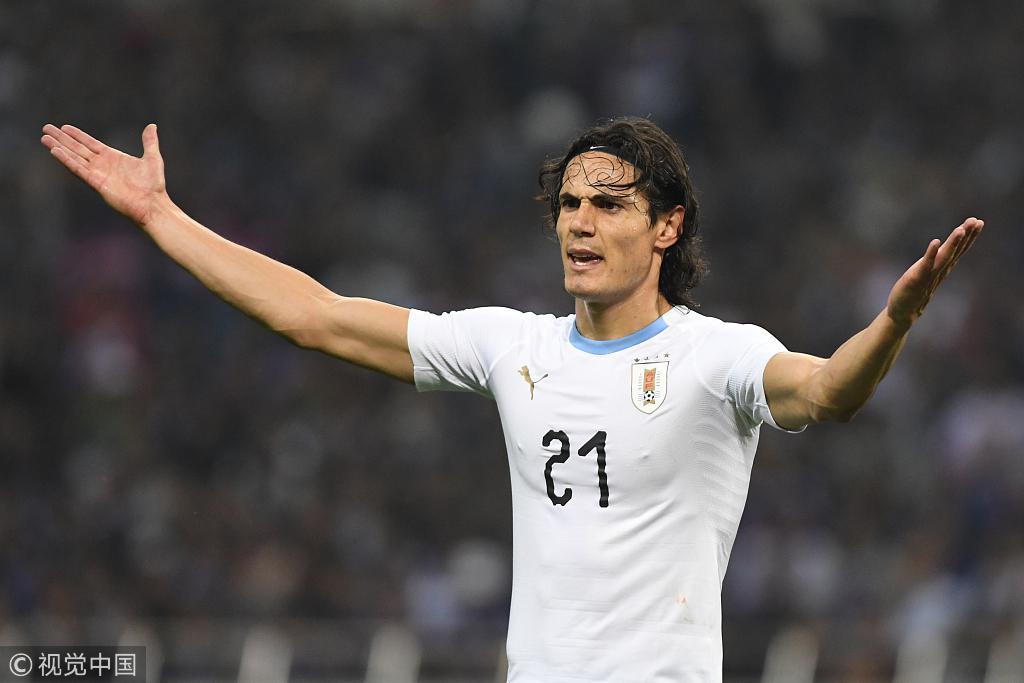 卡瓦尼与他的乌拉圭连输韩日
