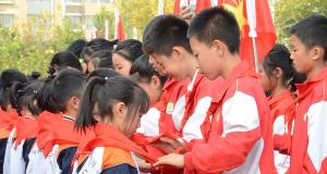 市第十七小学举办中国少年先锋队建队日活动