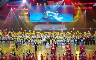 花都区第八届运动会暨第四届残疾人运动会开幕式盛大开