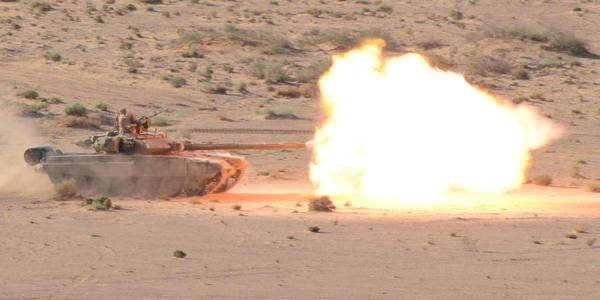 阿尔及利亚军演坦克武直全上阵