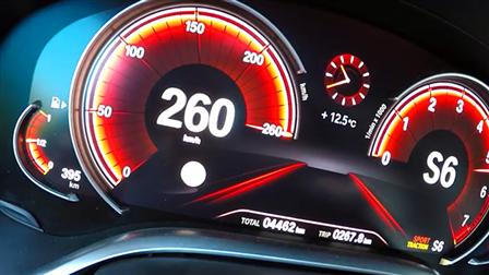 宝马7系 G12 750i加速实录