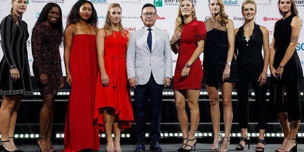 WTA总决赛众星礼服亮相斗艳 个个似超模