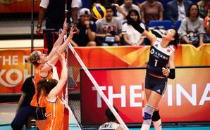 世锦赛-中国女排3-0荷兰获季军