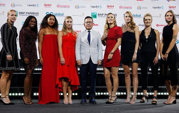 WTA总决赛众星礼服亮相斗艳