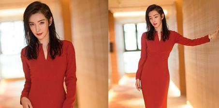 李冰冰穿红裙秀完美曲线