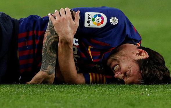 梅西右臂骨折休战3周 无缘国家德比