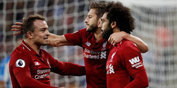 沙奇里助攻萨拉赫破荒 利物浦客场1-0哈镇