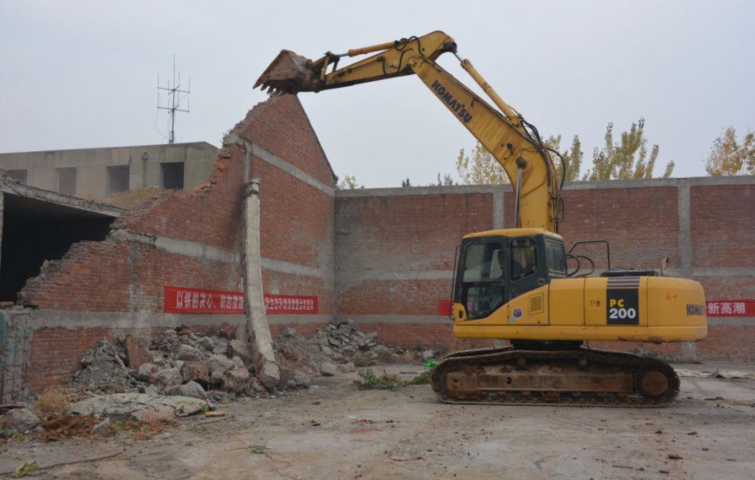 唐山这一片区第一次集中拆除行动腾出土地506亩
