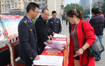 孝南区城管执法局开展控违拆违政策法规宣传