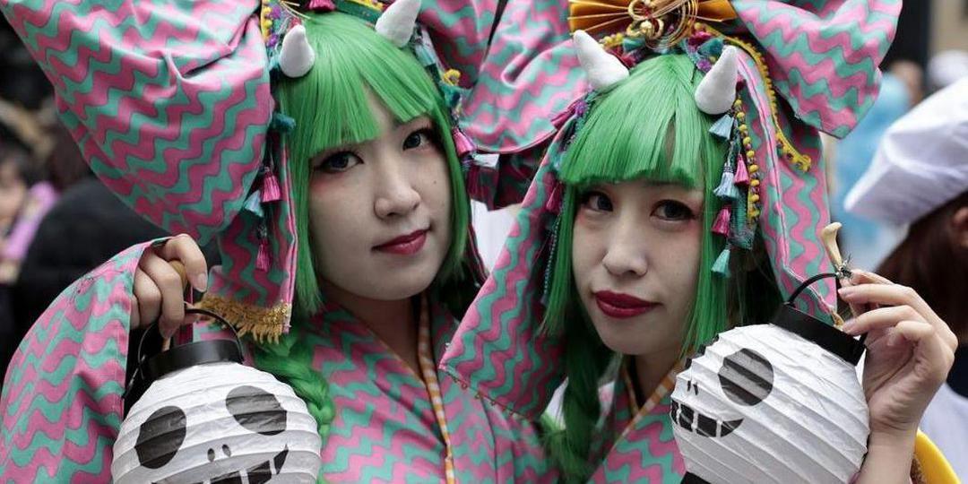 日本万圣节大趴体验美容仪中的爱马仕!
