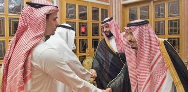 沙特国王接见遇害记者家人 家属致谢