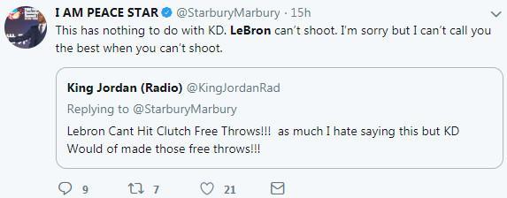 又怼!马布里:勒布朗不会投篮 因此不是最好球员