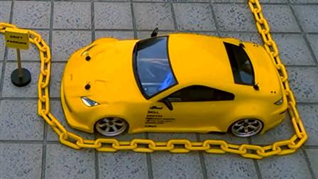 实拍玩具车特技漂移展示
