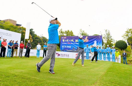 2018中国高尔夫球业余公开赛湖北站开杆