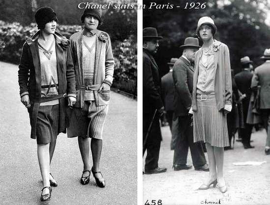 1926年的香奈尔女装,已经有了可以插手的口袋/Pinterest