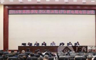 自治区政府召开2018年第四季度全区经济运行分析会议