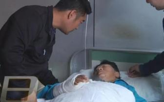 医院用错药?环卫工人车祸骨折入院 输液袋上竟贴别人名字