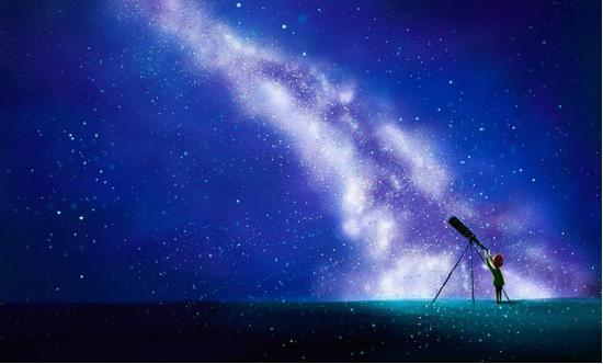 仰望星空 我从何处而来?图片
