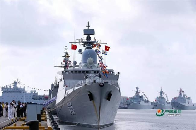 中国和东盟海上联演2018在湛江军港举行闭幕式
