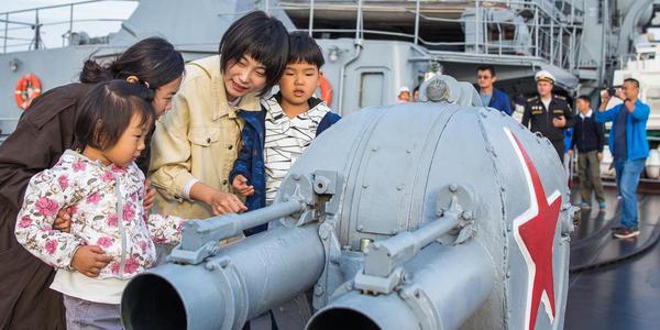 俄羅斯軍艦訪問青島 市民上艦參觀