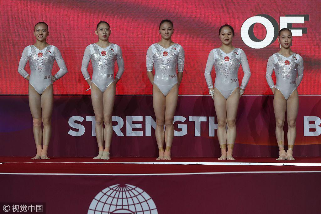 体操世锦赛中国女团摘铜 美国四连冠俄罗斯亚军