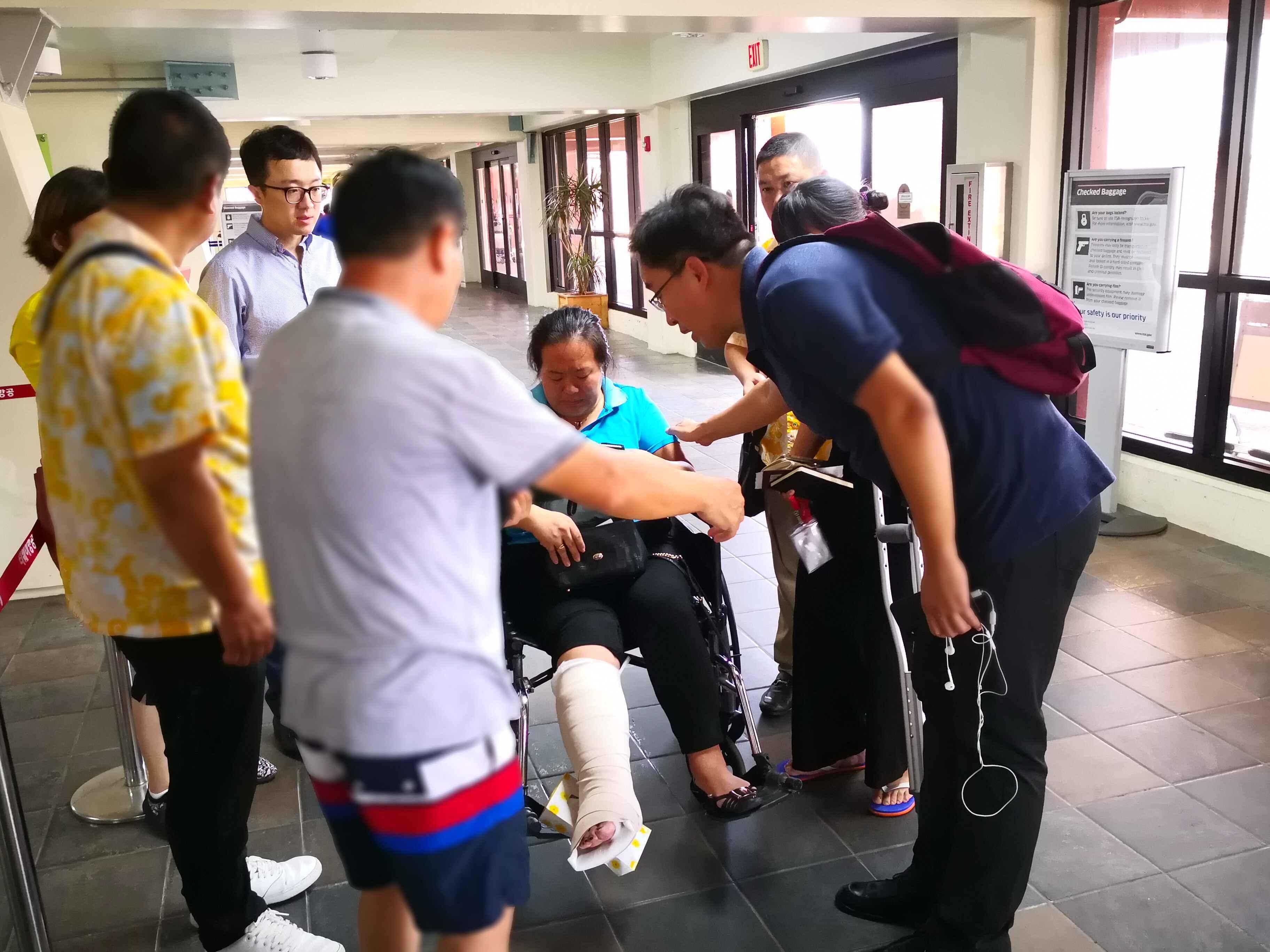 因台风滞留塞班的近1600名中国游客已平安撤离