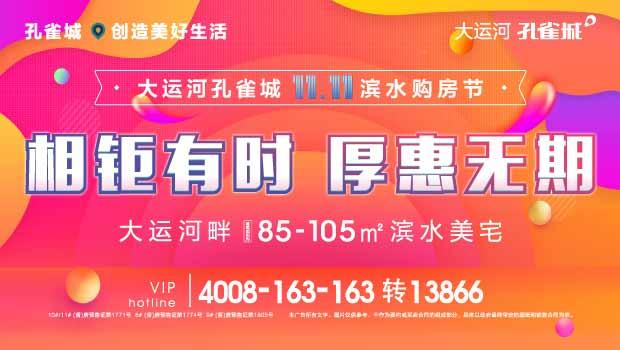 大运河孔雀城  11.11滨水购房节