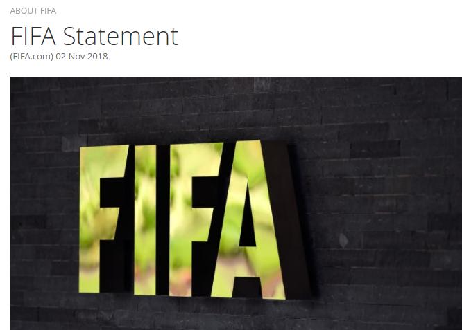 FIFA发表声明回应造假传闻:歪曲事实 他们出于私利!