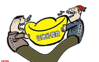 赣州兴国县睦敬村委会套取征地款32万余元