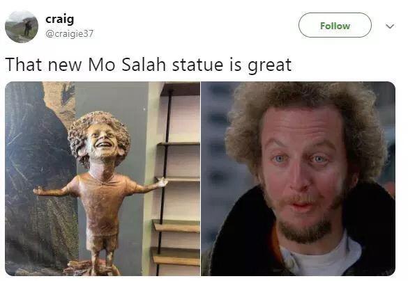 埃及人給薩拉赫做了個這樣的雕像...C羅自愧不如