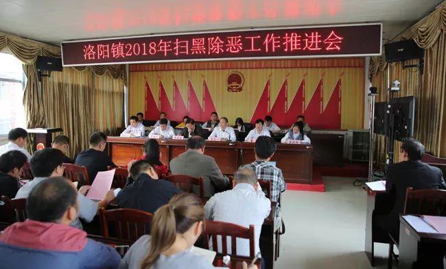 环江县洛阳镇召开2018年扫黑除恶工作推进会