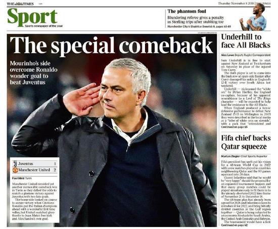 《泰晤士报》盛赞穆帅:特殊的那个回来了!