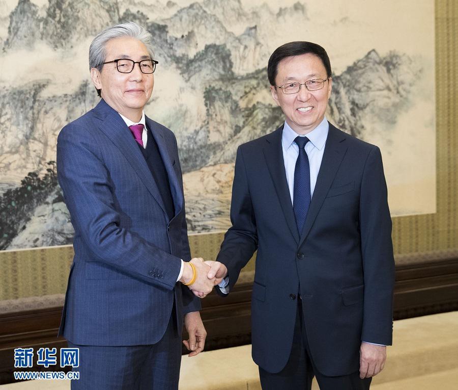 韩正会见泰国副总理颂奇