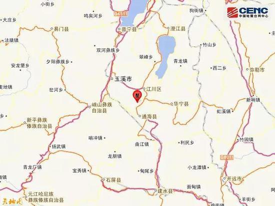云南玉溪市通海县发生3.1级地震 震源深度7千米