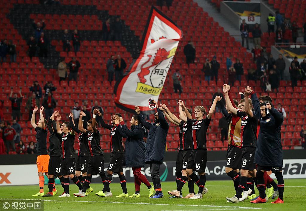欧联-勒沃库森拉齐奥赢球晋级 塞维利亚3-2绝杀