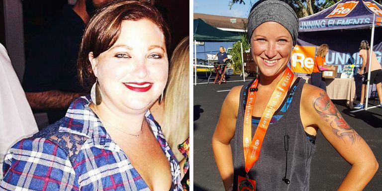 肥胖症让女子震惊 坚持跑步+节食瘦了82斤