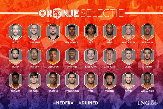 荷兰国家队名单:范戴克领衔 巴萨替补门将入选