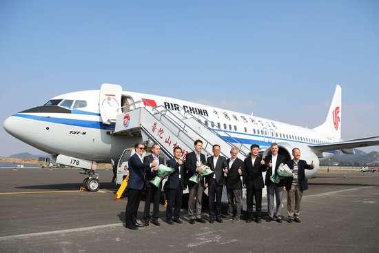 波音首架中国工厂交付的737MAX 已飞抵舟山