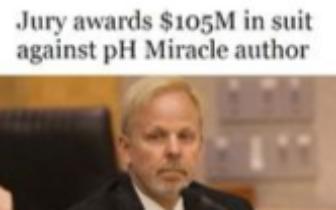 """""""酸碱体质""""创始人承认骗局被判罚 1.05 亿美元"""
