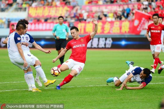 中甲附加赛-梅县2-1总分3-2十人陕西 明年再战中甲