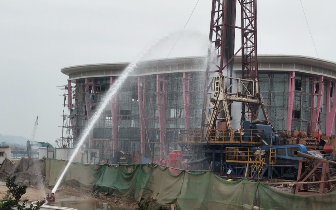 遂宁圣莲岛施工钻到天然气 后期可能出现石油