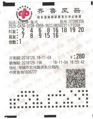 21人齐中奖 山东彩友280元拿下双色球1489万大奖