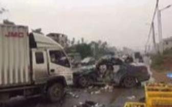 凌晨突发!玉林市两车相撞致2人死亡3人受伤