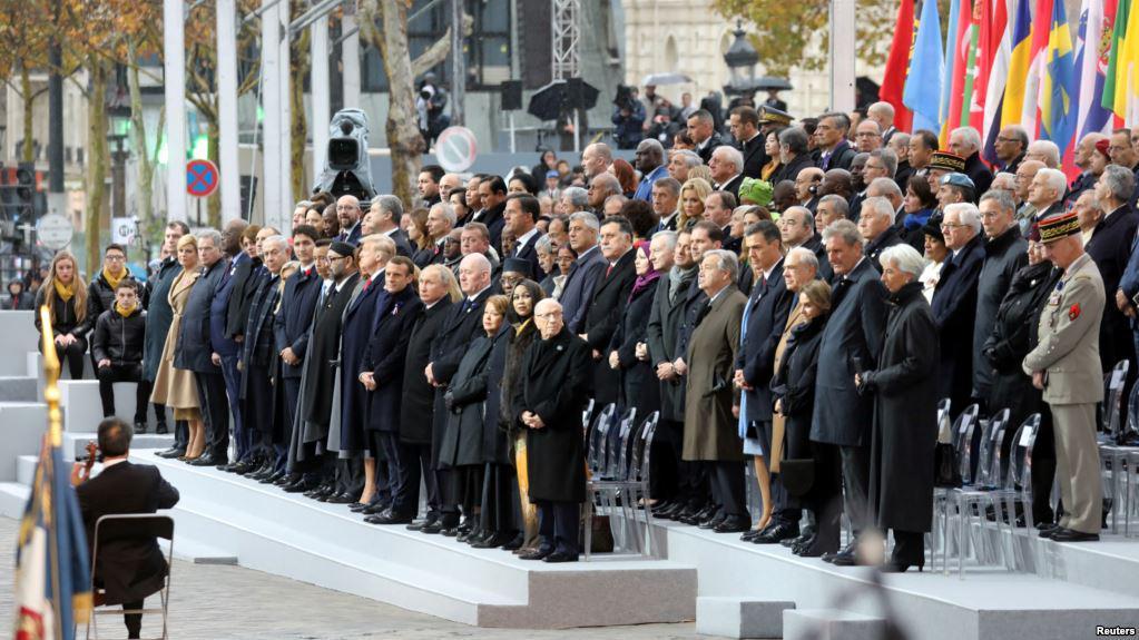 多国领导人共同纪念一战百年 呼吁警惕民族主义