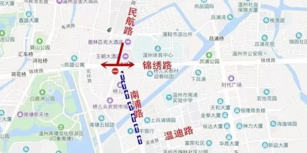 市区南浦路实施单向交通限制怎么走?